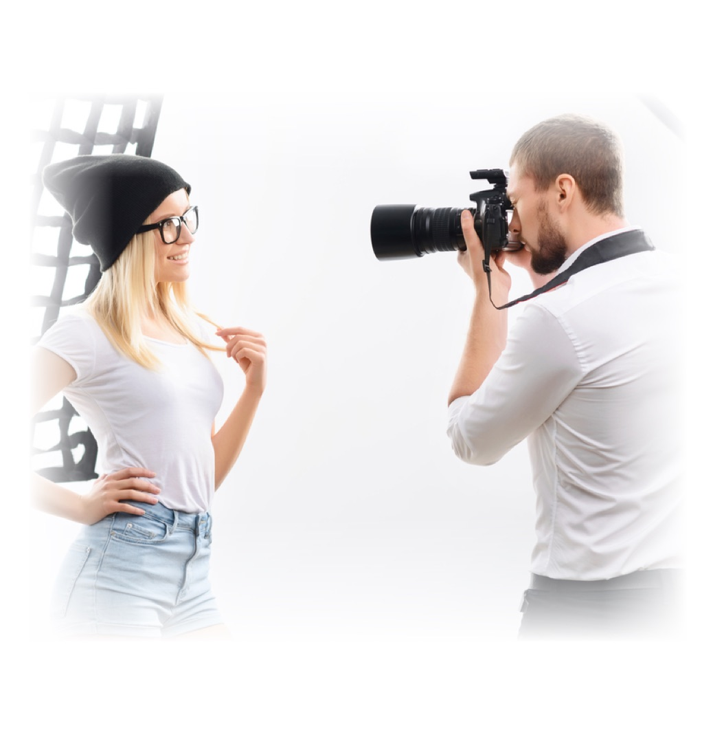 We can offer serious aspiring models a professional photo shoot.
